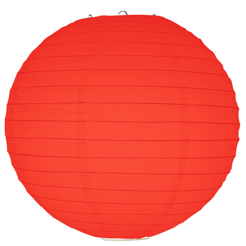 Red Ribbed Paper Lanterns