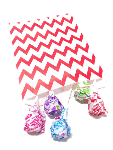 Red Chevron 20pc Paper Bags