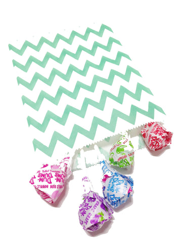 Sea Green Chevron 20pc Paper Bags