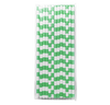 Spring Green Rugby Striped 25pc Paper Straws