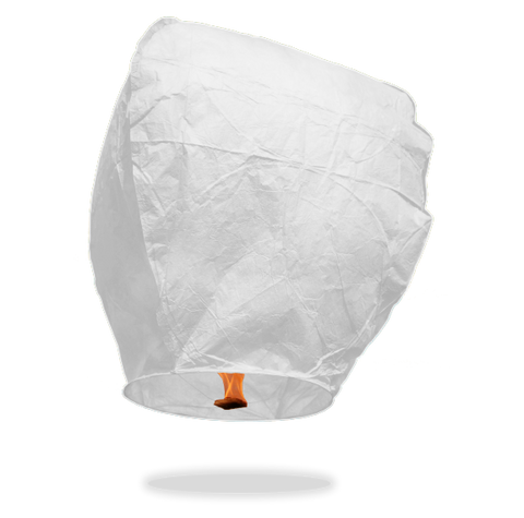 White Eclipse Sky Lanterns