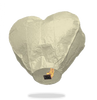 ECO White Heart Sky Lanterns (Wire-Free)