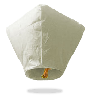 ECO White Diamond Sky Lanterns (Wire-Free)