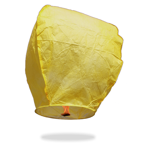 ECO Yellow Eclipse Sky Lanterns (Wire-Free)