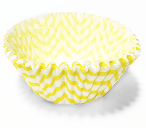 Yellow Chevron 25pc Cupcake Liners