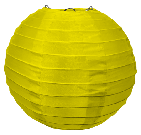 Yellow Round Silk Lanterns.