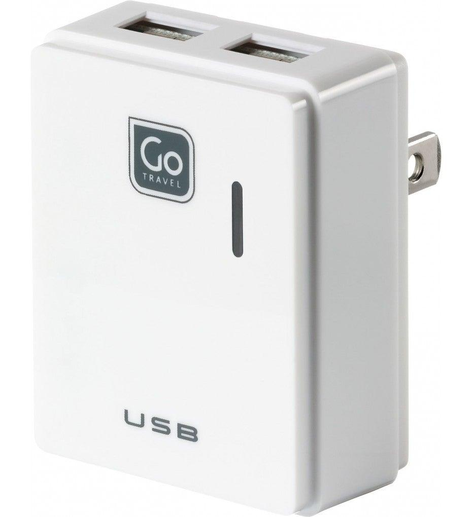 Go Travel Twin USB Smartphone/Tablet Charger
