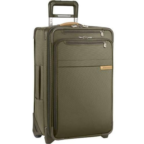 "Briggs & Riley Baseline 25"" Medium Expandable Upright Checked Luggage Olive Green"