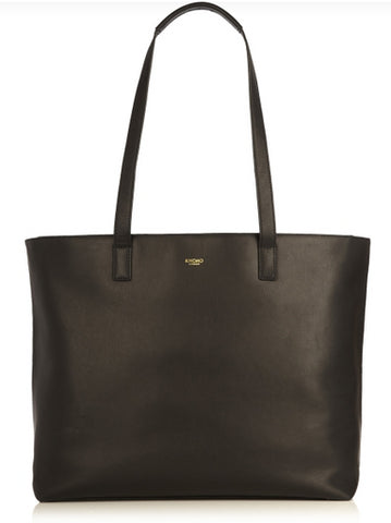 "Knomo Maddox Leather 15"" Zip Tote"