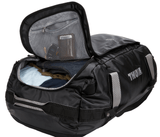 Thule Chasm 90L Packable Duffle Backpack Black Zippered Opening