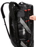 Thule Chasm 90L Packable Duffle Backpack Black Side Straps