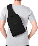 Wearing Pacsafe Metrosafe LS150 Anti-Theft Sling Backpack Size