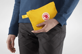 Holding Fjallraven Kanken Gear Pocket