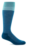 Sockwell Women's Full Twist (Wide Calf) Graduated Compression Sock Teal