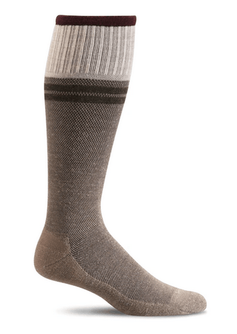 Sockwell Men's Sportster Graduated Compression Sock Khaki