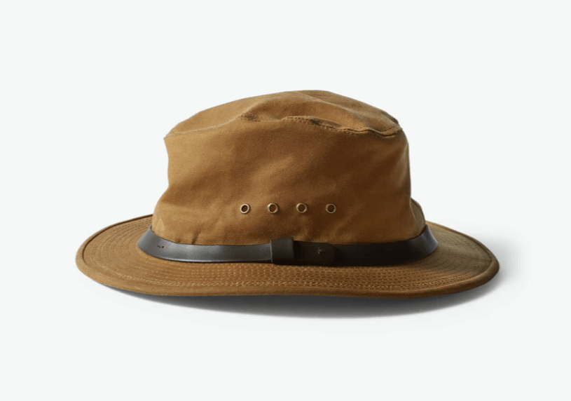 Filson Tin Cloth Packer Hat (Dark Tan) Front View