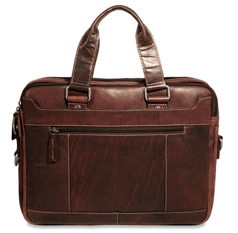 Jack Georges Voyager Double Entry Top Zip Briefcase