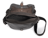 Aunts & Uncles Goatee Leather Shoulder Bag Raven Interior