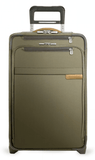 "Briggs & Riley Baseline 22"" Domestic Carry-On Expandable Upright Luggage Olive Green"