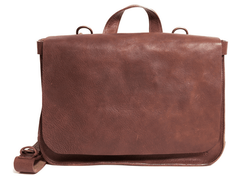 Korchmar Dallas Natural Leather Postal Bag