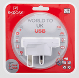 SKROSS World Adapter to UK USB