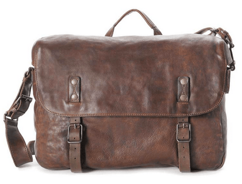 Aunts & Uncles Walrus Leather Messenger Bag Single Malt