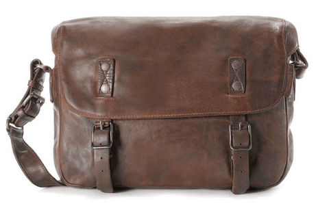 Aunts & Uncles Anchor Single Malt Leather Messenger Bag Canada
