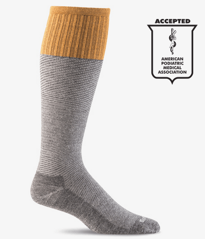 Sockwell Men's Bart Graduated Compression Sock Charcoal