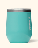 12oz gloss turquoise Corkcicle stemless wine glass