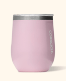12oz rose quartz Corkcicle stemless wine glass