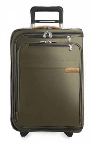 Briggs & Riley Baseline Domestic Carry-On Upright Garment Bag Olive