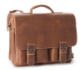Aunts & Uncles Hunter Finn Leather Business Bag Vintage Tan