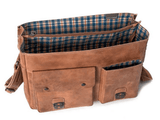 Aunts & Uncles Hunter Finn Leather Business Bag Interior