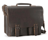 Aunts & Uncles Hunter Finn Leather Business Bag Vintage Brown