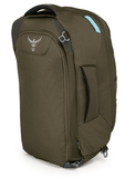 Osprey Fairview 40L Backpack Misty Grey Back View Straps Tucked Away