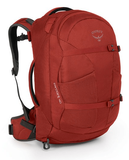 Osprey Farpoint 40 Carry-On Travel Backpack Jasper Red