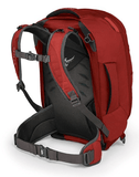 Osprey Farpoint 40 Backpack Back View Shoulder Straps Lumbar Support