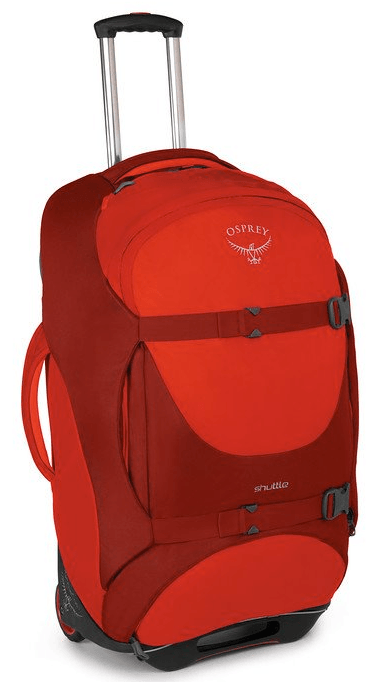 "Osprey Shuttle 30"" Wheeled Duffle Diablo Red"