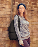 Wearing Ameribag X-Small Distressed Nylon Healthy Back Bag
