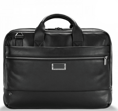 Briggs & Riley @Work Leather Medium Brief Black