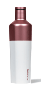 25oz color block modern rose corkcicle canteen