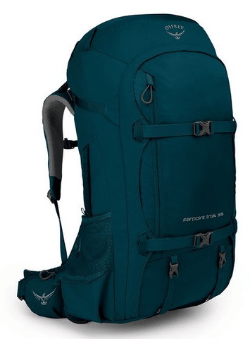 Osprey Farpoint Trek 55L Travel Backpack Petrol Blue