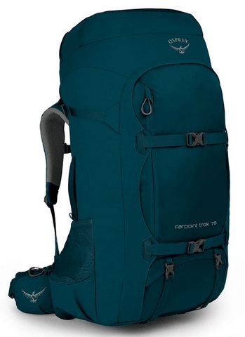 Osprey Farpoint Trek 75L Travel Backpack Petrol Blue