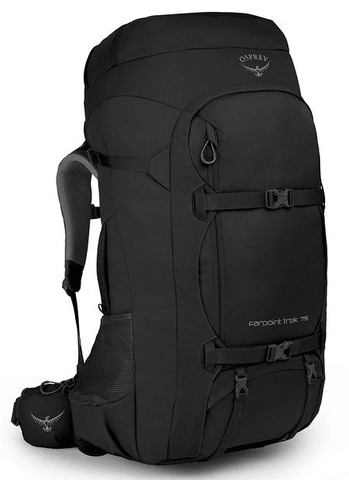 Osprey Farpoint Trek 75L Travel Backpack Black