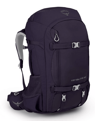 Osprey Fairview Trek 55L Women's Travel Backpack Amulet Purple