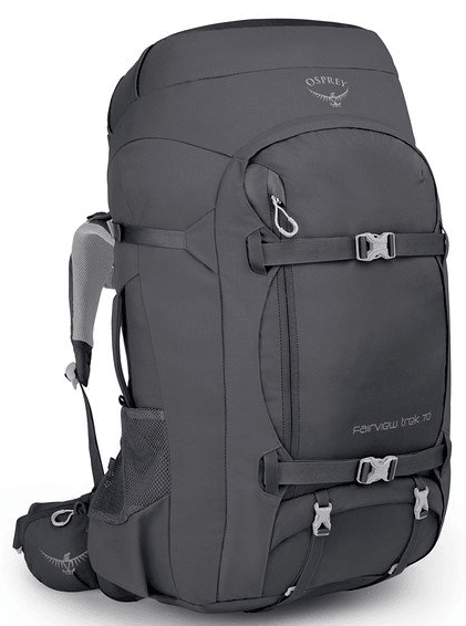 Osprey Fairview Trek 70L Women's Travel Backpack Charcoal Grey