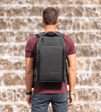Wearing Nomatic Travel Pack Backpack