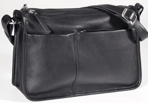 Derek Alexander EW Twin Top Zip Shoulder Bag