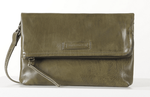 Aunts & Uncles Jamie's Orchard Orangine Crossover Bag/Clutch Mayfly Green