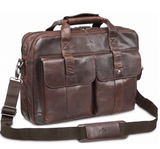 Mancini Double Compartment Laptop Briefcase